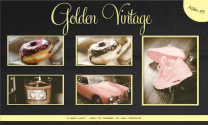 Golden Vintage Photoshop Action by Sweety-Muffin by Sweety-Muffin