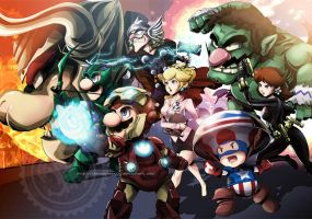 The Mario Avengers by Jay-Phenrix
