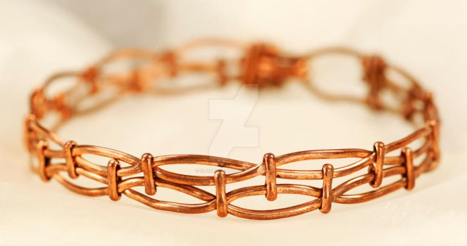 Copper Abstract Bracelet by ClaireKincaid