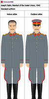 Joseph Stalin, Marshal, 1943 by YamaLama1986