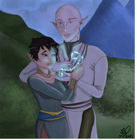 Tala and Solas (Night) by Sparky28