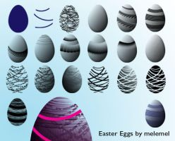 Easter Egg Brushes by melemel