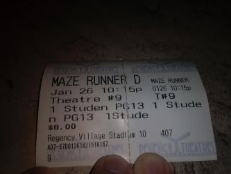 Maze Runner The Death Cure Movie Ticket by MAGEBAD
