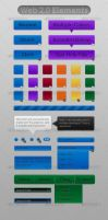 Web 2.0 Elements by Roeven