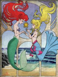 Ariel and Kilala by Adalaire