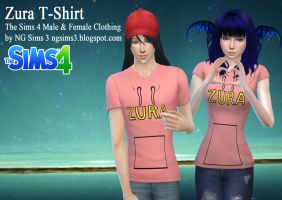 Zura T-Shirt - TS4 CC Clothes by ng9