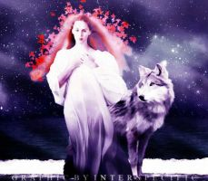 Girl + Wolf by interspecific