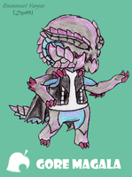 Animal Crossing x Monster Hunter - Gore Magala by Dyz-69