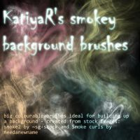 Smokey background brushes by KatiyaR