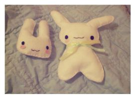 Bunny Plushies by pullmeoutalive