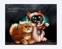 space cats by crayonmaniac