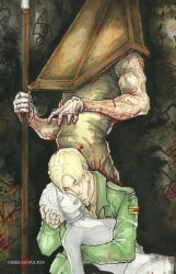 Pyramid Head and James Silent Hill by ChrisOzFulton