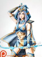 Ashe - League of Legends by pillowds