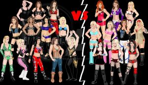 Divas vs Knockouts by Fefe1414
