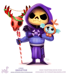 Daily Paint 1860# Skeletor by Cryptid-Creations
