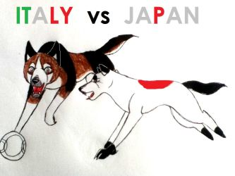 Italy Vs Japan by yugiohfreakXD