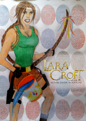 Lara Croft and the Slovak Easter Traditions by AndRay-BF
