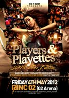 Players and Playettes flyer design by Dannygdesigns