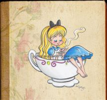 Alice in tea time by GabeeIllustration