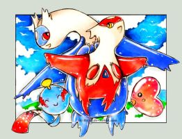 With you - Latias and Latios by Ririko