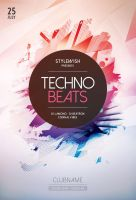 Techno Beats Flyer by styleWish