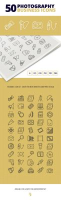 50 Photography Business Icons by survivorcz