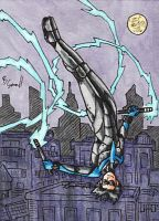 Nightwing Sketch Card by ibroussardart