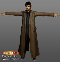 3D Tenth Doctor - WIP by silentrepose