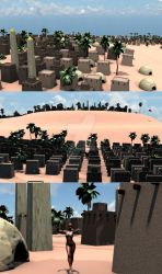 City of Dogon, a Blender tech demo by falsedelic