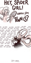 Jenna Spidermouthes: Making Friends by AngryMaxFuryStreet