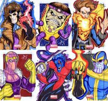 Marvel Universe Sketch Cards by Jayson-kretzer