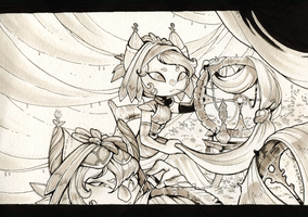 Inktober day 15 - The Clans part V by clover-teapot
