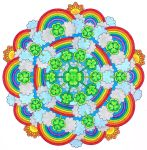 St. Patricks Day Lucky Rainbow Mandala (Colored) by candy-hippie