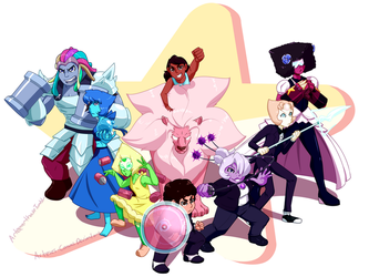 WE are the crystal gems! by Arteses-Canvas