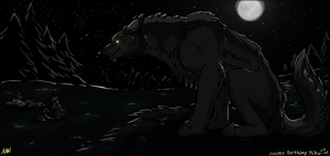 Big Bad Stalker Wolf by dragon-master-13