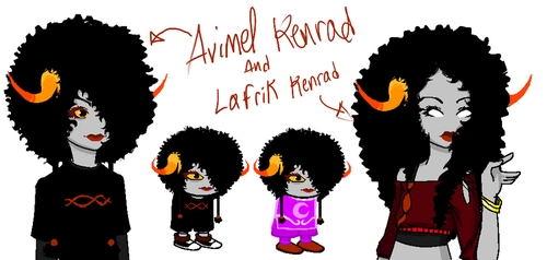 New Fantroll and Dancestor by Hotoki-chan124