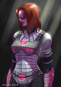 COMMISSION - Black Widow by avimHarZ