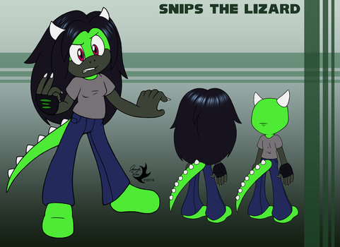 Commission: Snips the Lizard by Jammerlee