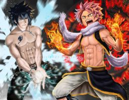 FAIRY TAIL - Fire And Ice by Orcagirl2001