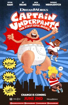 Captain Underpants Movie Poster by RADMANRB