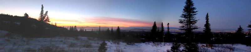 Anchorage Winter Sunset by AK49BWL