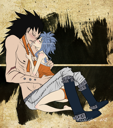 Gajeel x Levy - Headband by acidic-fire