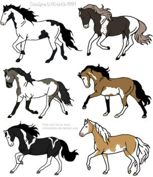 Natural Horse Adopts, Batch #1 by Kristin1991