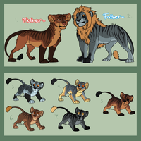 Lion family adopts - CLOSED by SAdoptsS