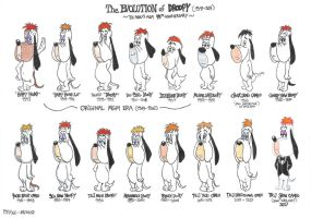 The Evolution of Droopy Dog (1943-2017) by FelixToonimeFanX360