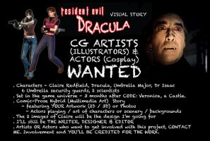 Resi Evil Dracula CG artists / Actors Wanted by Big-Al-Son86