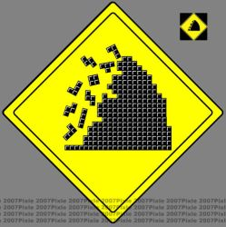 Game Signs - Falling Rocks by pixlem