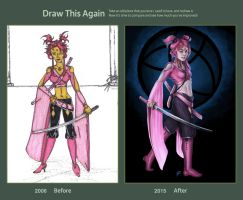 Draw This Again - Pink Ninja Gal by charligal