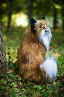 SOLD! 100 % Handmade Poseable toy  Fox! by MalinaToys
