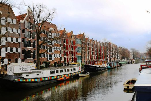 Amsterdam Canals in January by AKrukowska